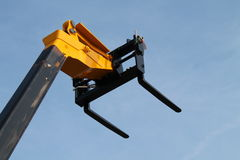 Cherry Picker. The Forks of a Telescopic Lifting Cherry Picker royalty free stock photo