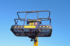 A Work Platform - Industry Construction Cherry Picker. The basket of a work platform known as a cherry picker stock photography