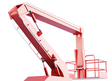 Cherry picker work bucket platform and hydraulic construction.  Royalty Free Stock Photography
