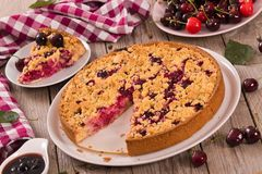 Cherry pie. Royalty Free Stock Images