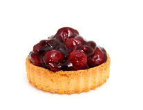 Cherry pie. Delicious Cherry pie isolated on white background royalty free stock photo