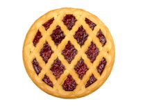 Cherry pie. Isolated on a white background stock photography