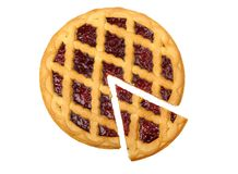 Cherry pie. Isolated on a white background royalty free stock images