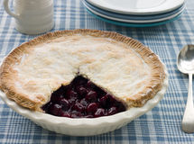 Cherry Pie. On A Table royalty free stock photo
