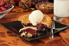 Cherry pie ala mode Royalty Free Stock Photo