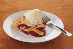 Cherry pie ala mode Stock Photos
