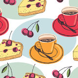 Cherry pie background Stock Photography