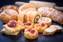 Cherry pie and bakery Stock Images