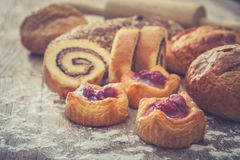 Cherry pie and bakery Stock Photo