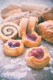 Cherry pie and bakery Royalty Free Stock Photography