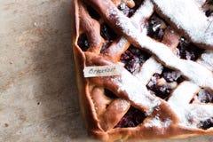 Cherry pie, breakfast Royalty Free Stock Image