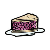 Cherry pie cartoon Royalty Free Stock Photo