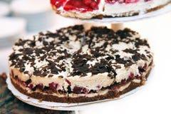 Cherry pie with chocolate Stock Photos