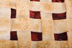 Cherry Pie Close Up Square Royalty Free Stock Images