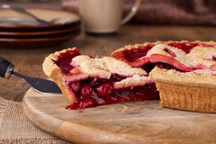Cherry Pie Closeup Stock Foto's