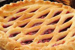 Cherry pie closeup Stock Photo