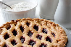 Cherry Pie Closeup Royaltyfri Foto