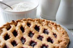 Cherry Pie Closeup Royalty Free Stock Photo