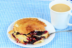 Cherry Pie and Coffee Royalty Free Stock Photo