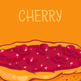 Cherry pie. Colorful  illustration of tasty cherry pie Stock Images