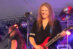 Cherry Pie In Concert. @ Music Off Main Street in West Bend Wisconsin 2014 Royalty Free Stock Images