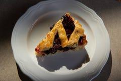 Cherry pie in harsh light. In harsh light royalty free stock photos