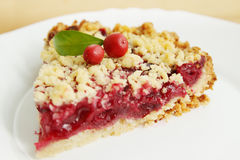 Cherry Pie. Homemade cookies, grated pie with cherry jam Royalty Free Stock Image
