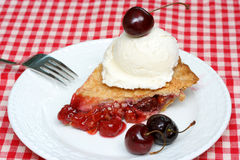 Cherry Pie and Ice Cream Stock Image