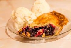 Cherry Pie and Ice Cream Stock Images
