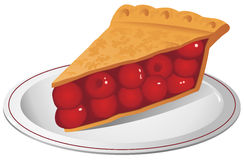 Cherry Pie Illustration Stock Images