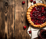 Cherry pie with jam Royalty Free Stock Photography