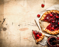 Cherry pie with jam. Stock Images