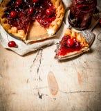 Cherry pie with jam. Stock Photography