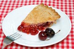cherry pie kawałek Obraz Royalty Free