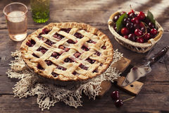 Cherry pie Stock Photos