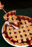 Cherry Pie With Lattice Crust Stock Photography