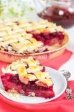 Cherry pie with lattice Royalty Free Stock Photo