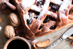 Cherry pie with lattice top Stock Photography