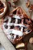 Cherry pie with lattice top Stock Image