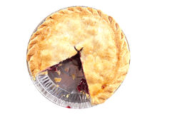 Cherry pie missing a slice Stock Images