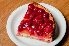 Cherry pie. Ntartnpientart on a plate Royalty Free Stock Photos