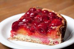 Cherry pie. Ntartnpientart on a plate Stock Photography