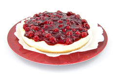 Cherry pie on plate Stock Photo