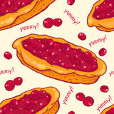 Cherry pie seamless pattern Stock Image