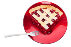 Cherry pie serving Stock Images