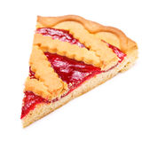 Cherry Pie Slice Stock Photo