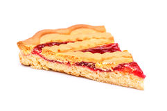 Cherry Pie Slice Fotografie Stock