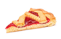Cherry Pie Slice Royaltyfri Foto