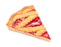 Cherry Pie Slice Royaltyfria Foton