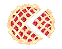 Cherry pie slice Stock Photography